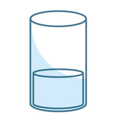 orange juice glass icon vector image
