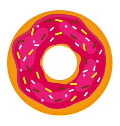 Donut with confectionery on a white background vector