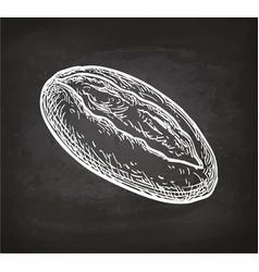Chalk sketch of loaf vector