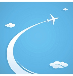 Plane flying in the sky vector