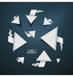 Abstract paper arrows set vector