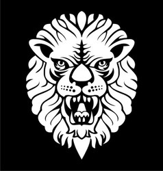 White lion head vector