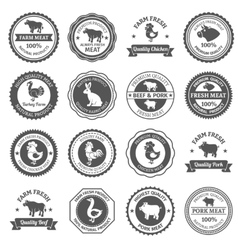 Meat labels set vector image