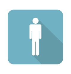 Square man icon vector