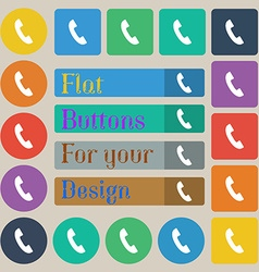 Phone sign icon support symbol call center set of vector