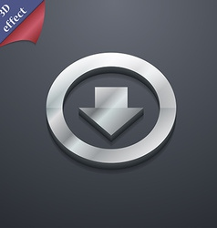 Arrow down download load backup icon symbol 3d vector
