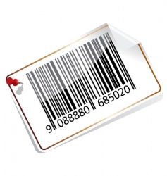 bar code tag vector image