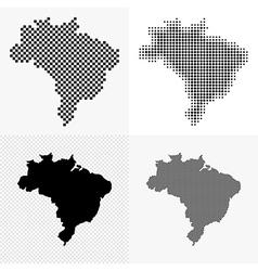 Brazil map set vector image vector image
