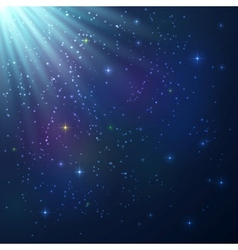 Bright colorful shining cosmic background vector image