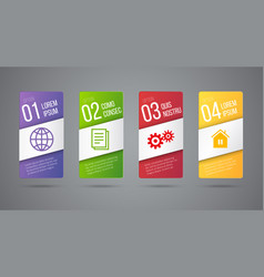 Business infographics cards or labels icons vector