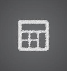calculator sketch logo doodle icon vector image vector image
