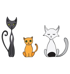 Cartoon cats vector image vector image
