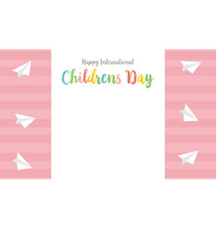 Childrens day style cute card collection vector