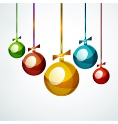 Christmas ball bauble New Year Concept vector image