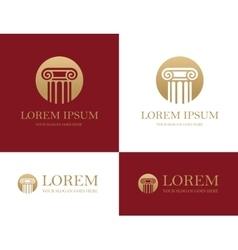 Column round logo vector image vector image