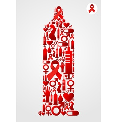 Condom aids symbol vector