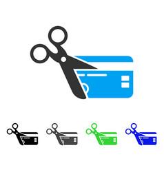 Cut credit card flat icon vector