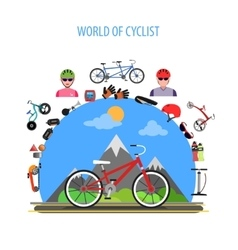 Cycling concept flat vector