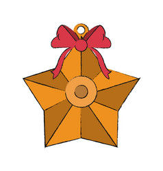 decorative christmas star vector image vector image