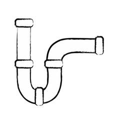 Figure plumbing tube repair equipment construction vector