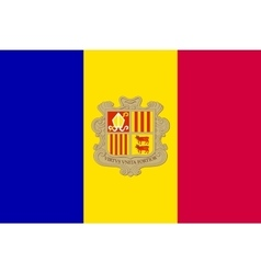 Flag of andorra in correct size and colors vector