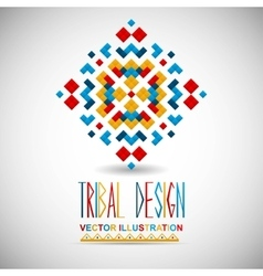 Geometric hipster tribal bright pixel design vector