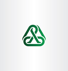 Green chain icon link logo vector