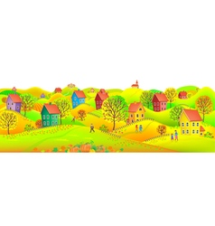 Horizontal autumn banner vector image vector image