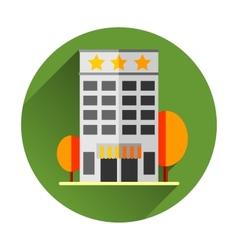 Hotel building EPS8 vector image vector image