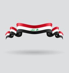 Iraqi wavy flag vector image vector image
