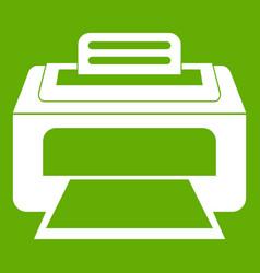 modern laser printer icon green vector image vector image
