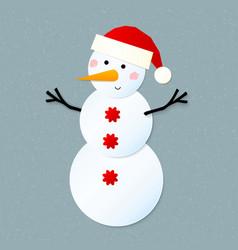Paper snowman vector