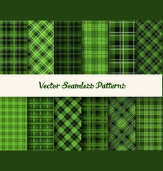 Patrick day patterns in green colors vector