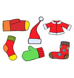 santa claus clothing vector image