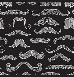 seamless pattern with hand drawn old fashion vector image vector image