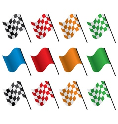 Set of racing flags vector