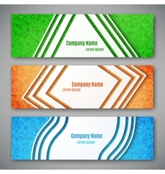 Set of three banners vector image
