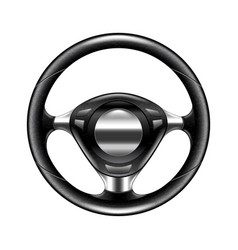 steering wheel isolated on white vector image