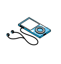 technology mp3 with headphones to listen to music vector image
