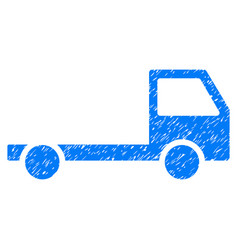 Truck chassis grunge icon vector