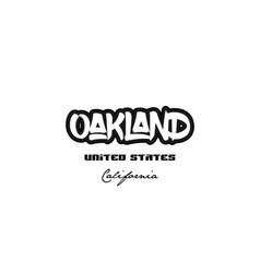 United states oakland california city graffitti vector
