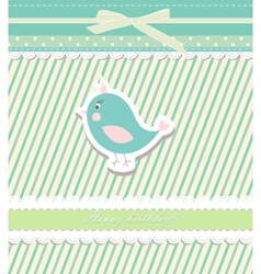 Vintage doodle bird for frame wallpaper vector