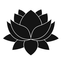 Water lily flower icon simple style vector