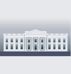 White classic house vector
