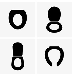 Toilet seats vector