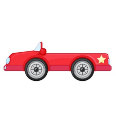 A red car vector