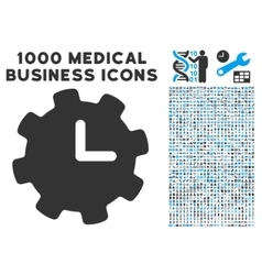 Time Settings Icon with 1000 Medical Business vector image