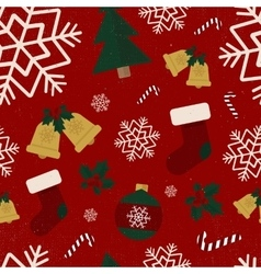 Seamless winter pattern old grunge texture old vector