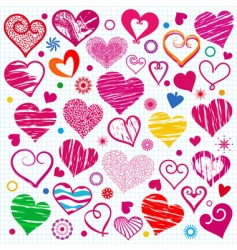 Collections heart vector