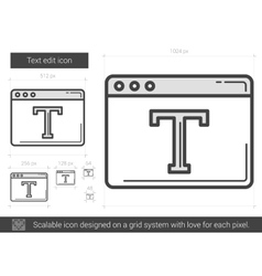 Text edit line icon vector